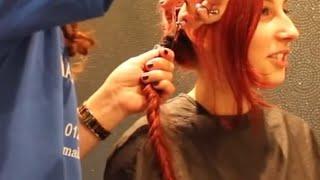 Haircut On Long Red Hair Cut To A Pixie Cut