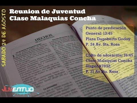 Reunión de la Juventud de la Catedral Evangélica de Chile en Clase Malaquías Concha