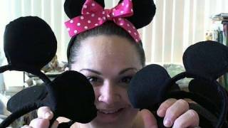 How To Make Mickey And Minnie Mouse Ear- Tutorial With