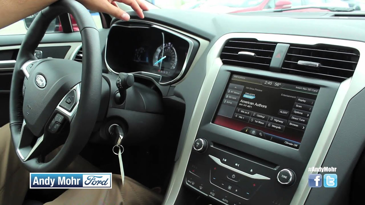 2014 ford fusion test drive ford sync andy mohr ford. Black Bedroom Furniture Sets. Home Design Ideas
