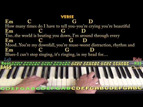 All Of Me (John Legend) Easy Piano Cover Lesson in G with Chords / Lyrics