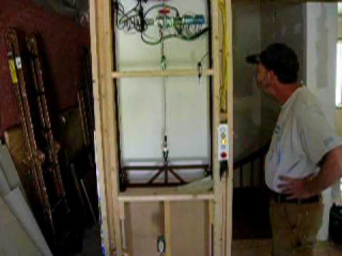 Diy dumb waiter youtube for Diy elevator plans