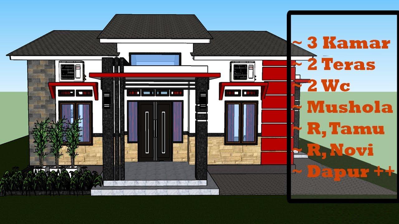 Desain Rumah Minimalis Modern 9x9 M Dilahan Rumah 12x12 M Rumah 3 Kamar Tidur Video Sportnk