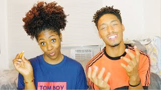 YEAR 1 OF OUR RELATIONSHIP😳 WE ALMOST BROKE UP... A COUPLE TIMES👀 // EAT & CHILL