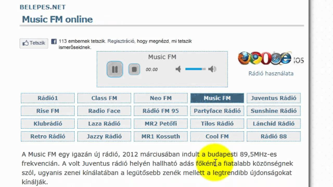 online radio hallgatás