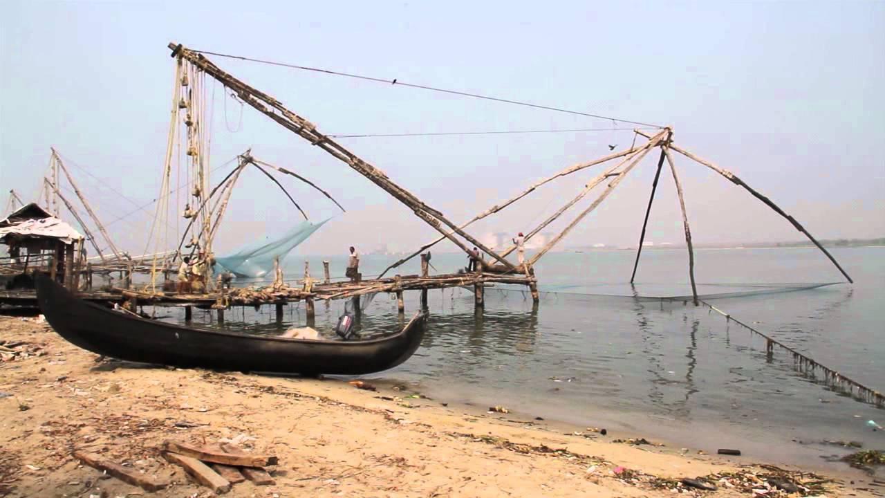 Chinese fishing nets kochi kerala india youtube for Big fishing net