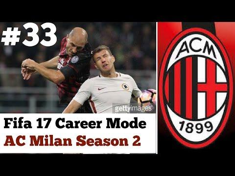 Fifa 17 ac milan career mode 33 big game vs roma for Fifa 17 milan