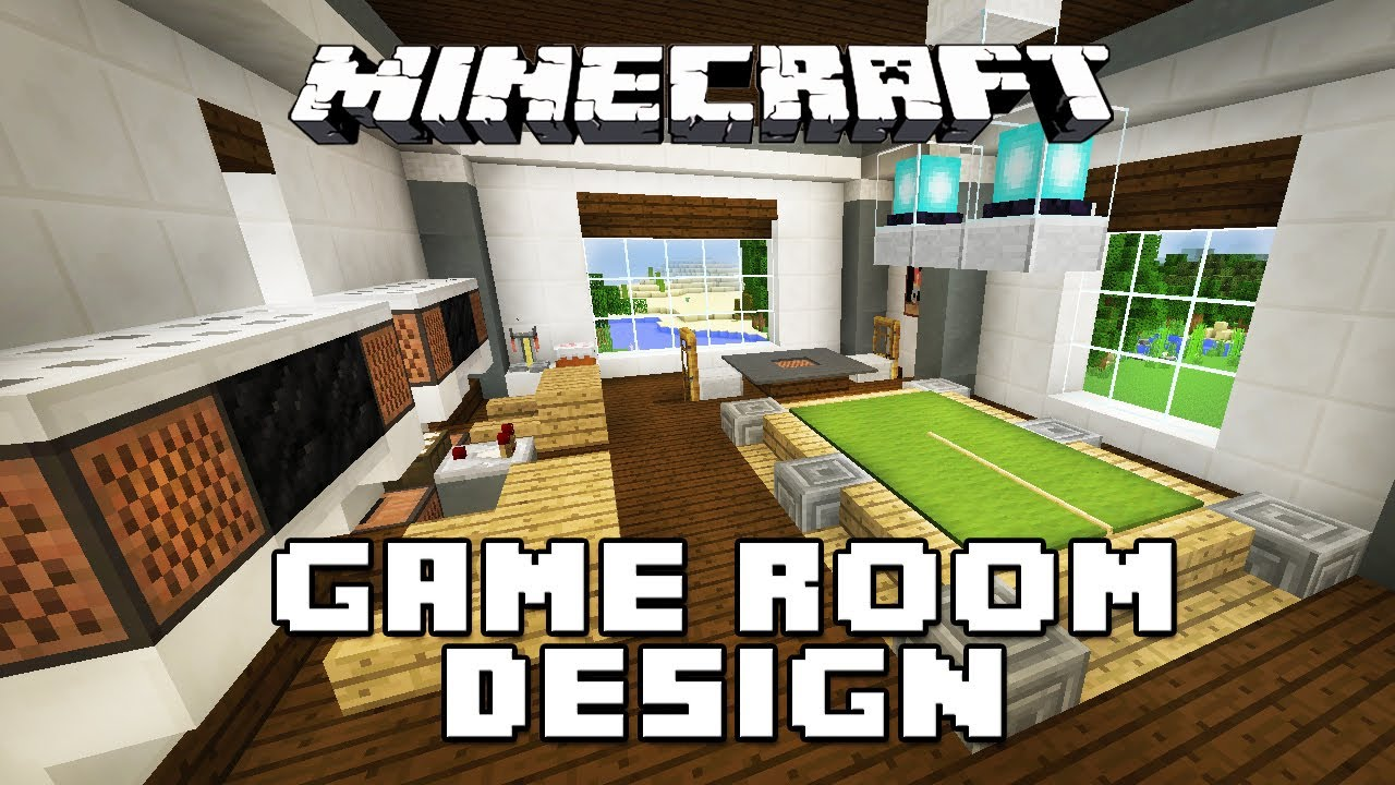 Minecraft tutorial how to make furniture for a game room for Minecraft living room ideas xbox