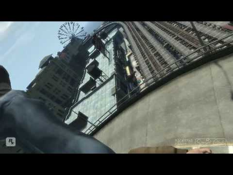 GTA IV PC - Niko Flying out of Windshield