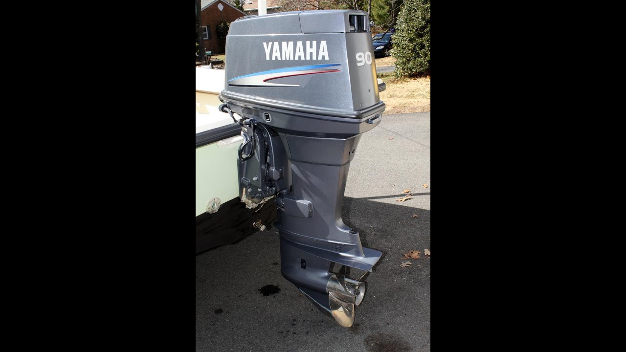 Yamaha 2 Stroke 90hp Outboard Boat Motor Engine Youtube