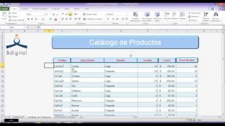 Administrar Inventarios en Excel