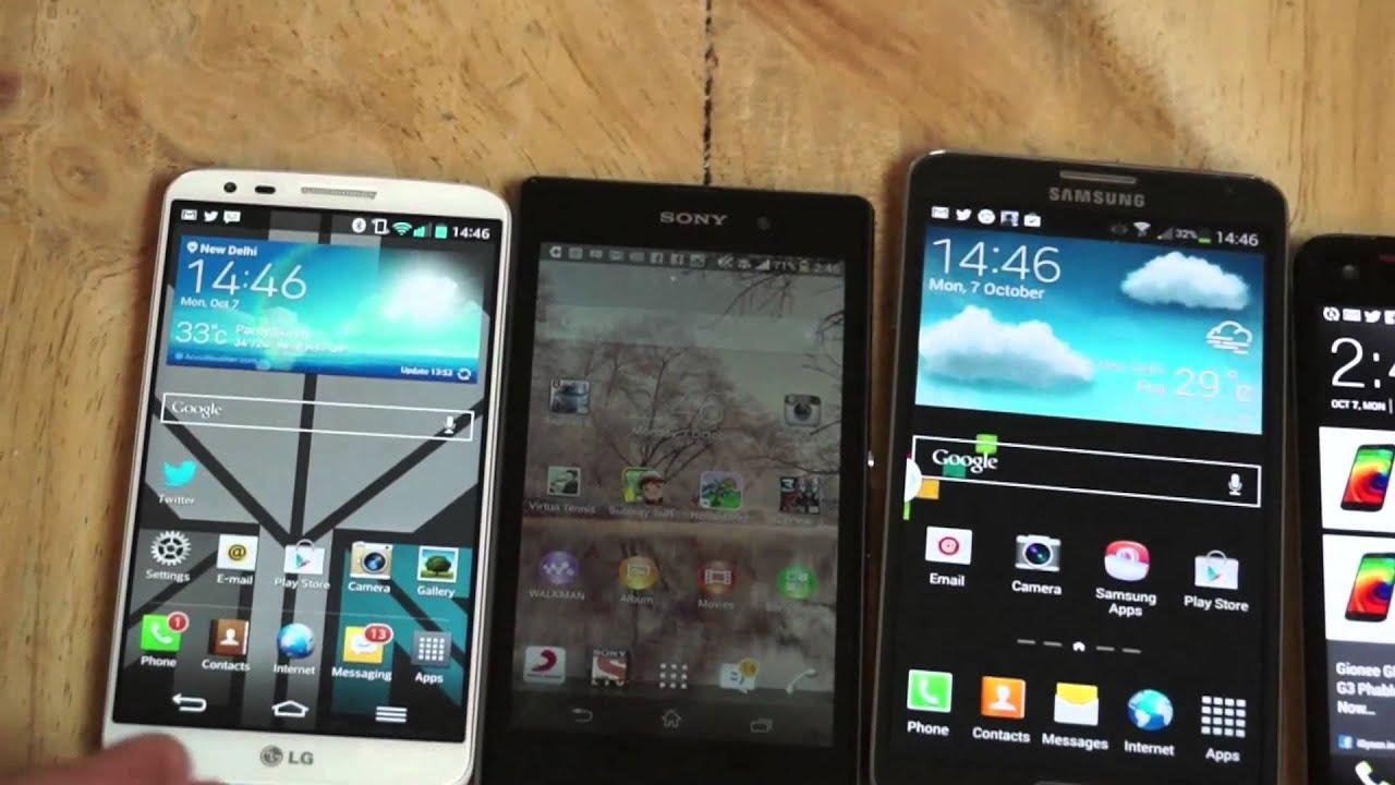 Samsung Galaxy Note 3 vs Sony Xperia Z1 Vs LG G2 vs HTC ...