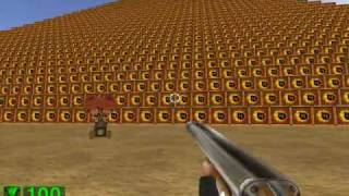 Serious Sam The First Encounter - Sacred Yards (2/2) [Secret level, all secrets found]