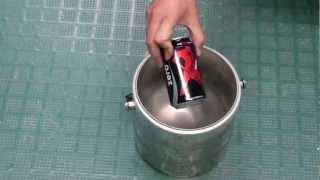 Coke Can in Liquid Nitrogen