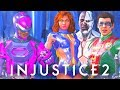 INJUSTICE 2 ALL ATOM vs The TEEN TITANS Intro Dialogues Pink Ranger Gear