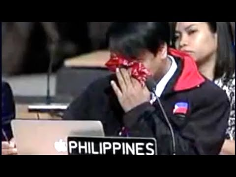 Emotional Typhoon Haiyan Speech By Philippines Delegate