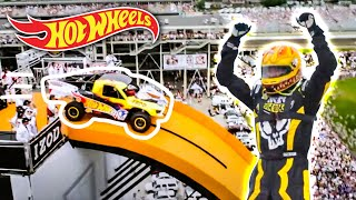 Team Hot Wheels The Yellow Driver's World Record Jump