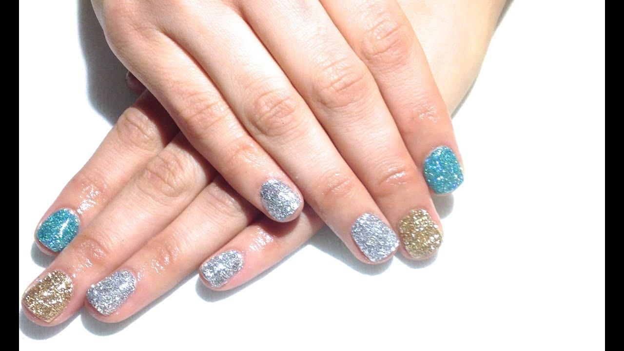 TUTORIAL: Glitter Manicure De Gel ♥ - YouTube