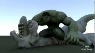 Phim hoạt hình 3D Cuộc chiến đấu giữa quái vật và khủng long