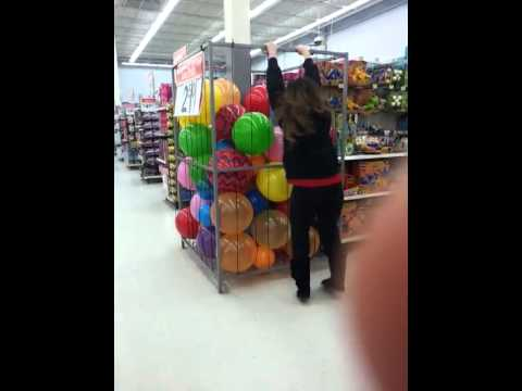 Girl Falls Into Walmart Ballpit