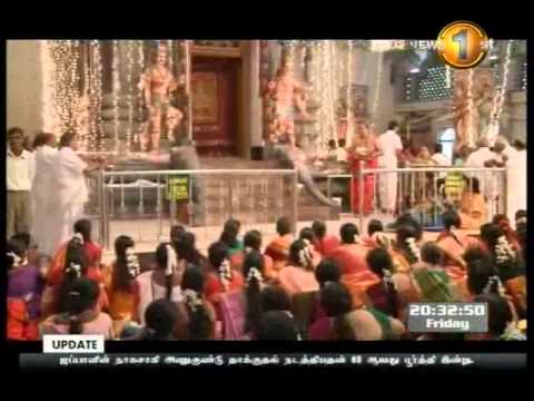 Aadi pooram 2013 in Colombo mayurapathi amman temple