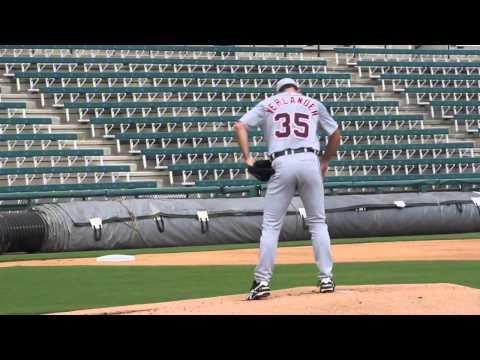 Justin Verlander throws some live batting practice