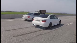 BMW M5 E60 =VS= Mercedes Benz W211 5.5 Compressor. Мка 9я серия. Жорик Ревазов.