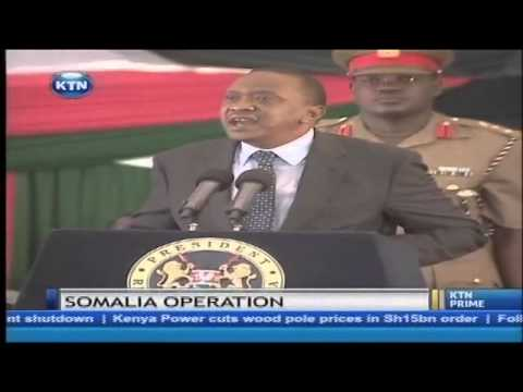 Kenya will not pull out its troops from Somalia, warns Uhuru Kenyatta