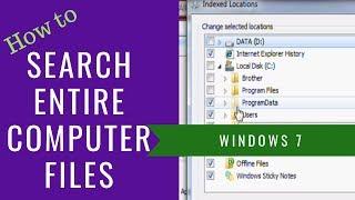 Make Search In Windows 7 Search Entire Computer