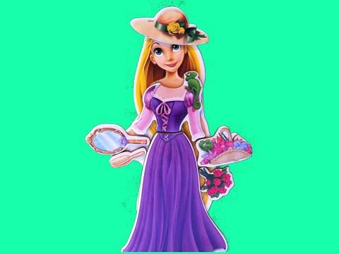 Công Chúa Tóc Mây Đồ Búp Bê  Nam Châm Gỗ (Bí Đỏ) Rapunzel Wooden Magnetic Dress Up New