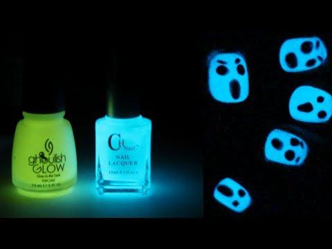 Glow in the Dark Halloween Nail Art