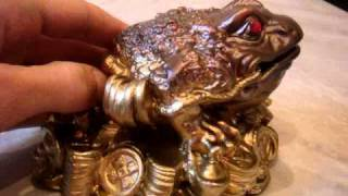 Chinese Feng Shui Three Legged Toad,Moon Frog, Wealth