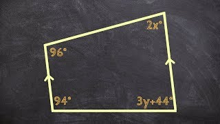 Geometry Solving For X And Y Using Laws Of Parallel