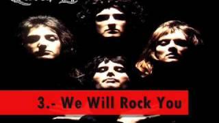 Las 5 Mejores Canciones De: Aerosmith, Queen, Guns N Roses
