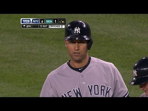 NYY@SEA: Jeter goes 3-for-4 in last game in Seattle