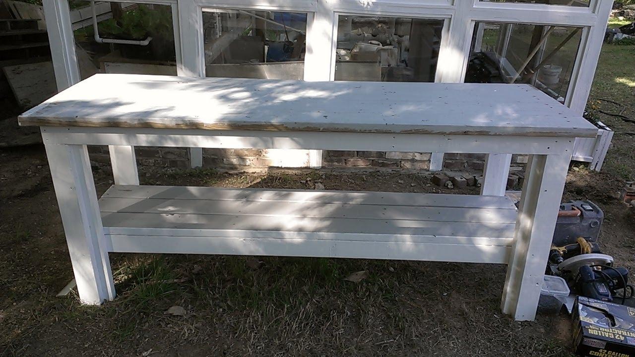 Como hacer una mesa de jardineria con madera reciclada - Como hacer sillon de palets ...