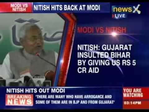 Nitish Kumar hits back at Narendra Modi in Patna rally