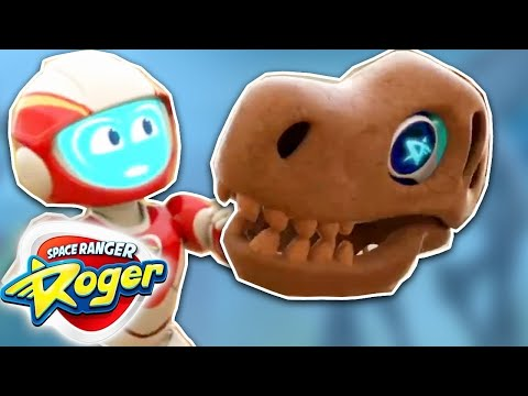 Funny Videos For Kids | Space Ranger Roger - Roger's T-Rex Trouble | Full Episode