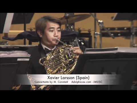 3rd JMLISC Xavier Larsson (Spain) Concertante by M. Constant