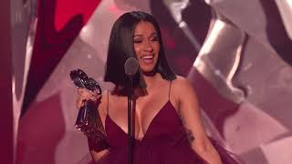 Cardi B Acceptance Speech - Best New Artist | 2018 iHeartRadio Music Awards