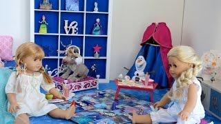 American Girl Doll Disney Frozen Anna's Bedroom (featuring