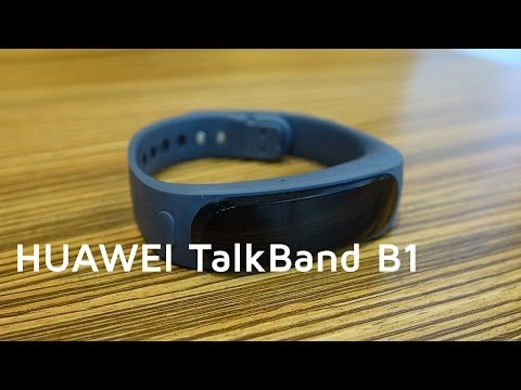 HUAWEI TalkBand B1 (Fitnessband / Smartwatch) Hands-on