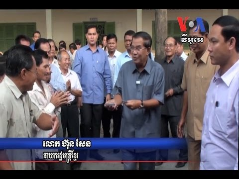 Polls Open in Cambodia, Prime Minister Hun Sen Casts Ballot