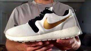 "Nike Roshe Run ""Gold Hypervenom"" ON FEET & Premium Co"