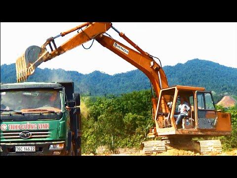 Xem máy xúc xe tải làm việc See excavators dump truck working by Giai tri cho Be yeu