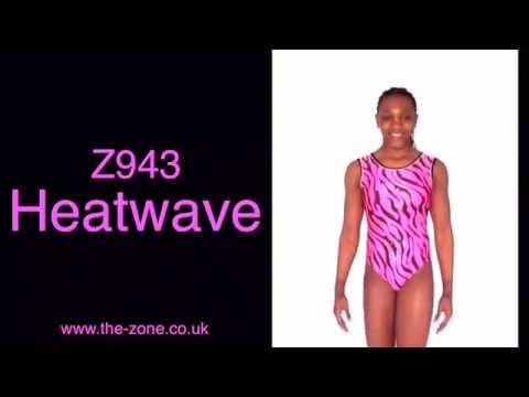 Justaucorps de gymnastique imprimé Heatwave