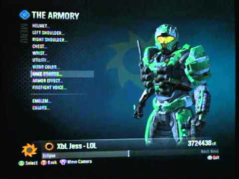 Halo Reach Buying All Armor Part 1