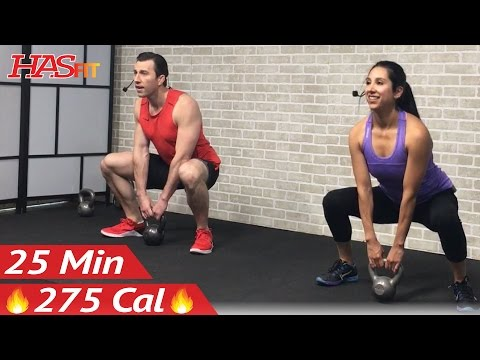 25 Min Beginner Kettlebell Workout for Fat Loss - Kettlebell Workouts for Beginners Men & Women