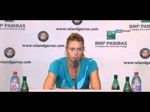 Maria Sharapova on Serena's serve