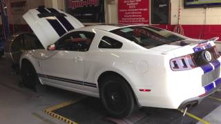 700HP STOCK 2014 SHELBY GT500 MUSTANG On The DYNO